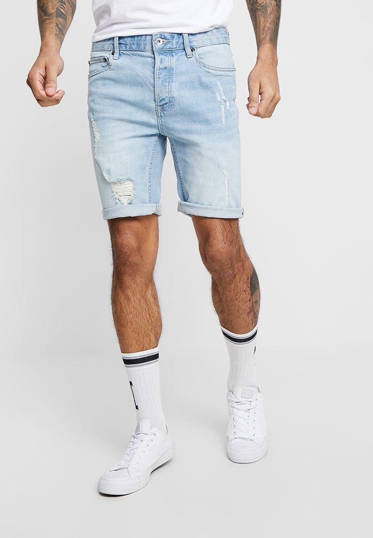 Topman - BLEACH SAKATA RIP  - Denim shorts - light wash