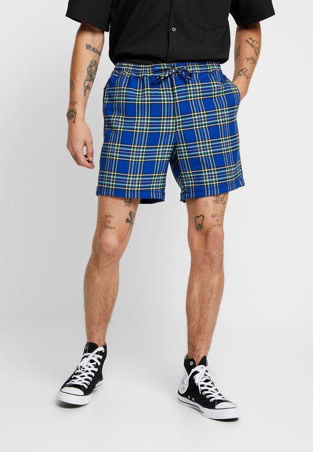 BRIGHT CHECK - Shorts - blue