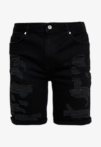 Topman - Shorts di jeans - black - 5