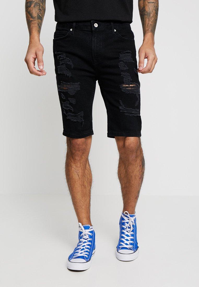 Topman - Shorts di jeans - black