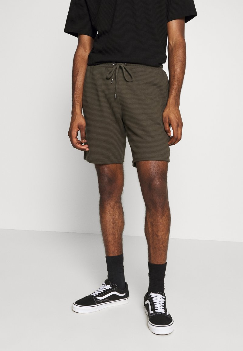 Topman - STRUCTURED - Shorts - khaki