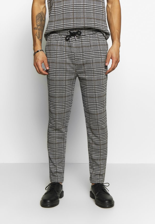 CHECK JOGGER - Pantaloni - grey