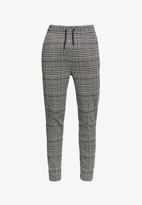 Topman - CHECK JOGGER - Trousers - grey - 3