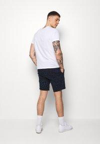 Topman - LEOPARD SIGNATURE - Pantaloni sportivi - dark blue - 2
