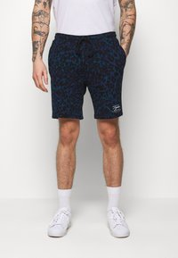 Topman - LEOPARD SIGNATURE - Pantaloni sportivi - dark blue - 0