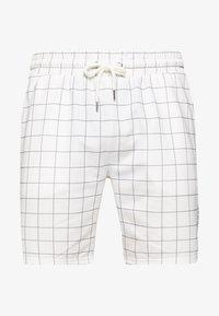 Topman - WINDOWPANE - Pantaloni sportivi - white - 3