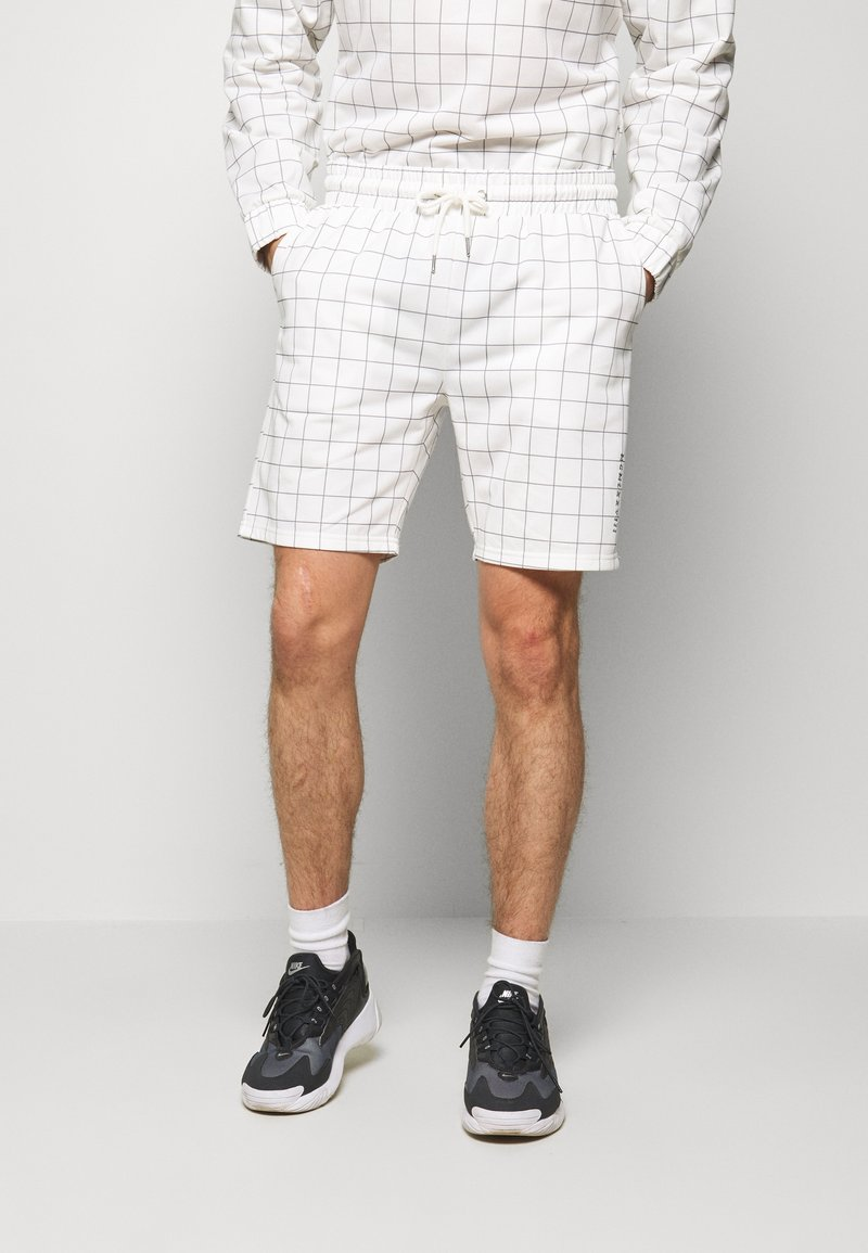 Topman - WINDOWPANE - Spodnie treningowe - white