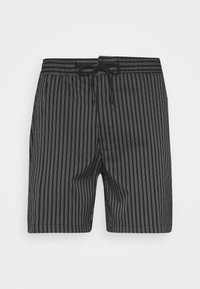 Topman - STRIPE PULL ON - Shorts - black - 3