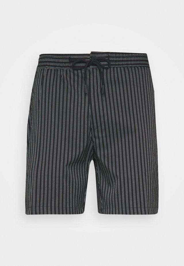 STRIPE PULL ON - Shorts - black