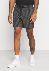 Topman - STRIPE PULL ON - Shorts - black - 0