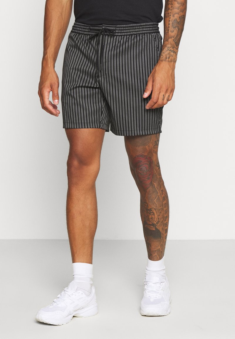 Topman - STRIPE PULL ON - Shorts - black