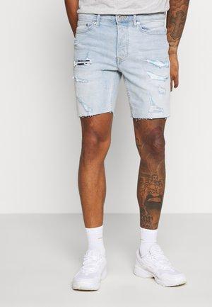 BLEACH - Denim shorts - light blue