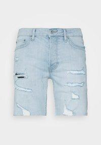 Topman - BLEACH - Denim shorts - light blue - 3