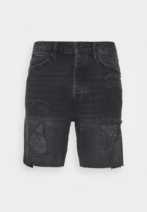 RIPPED UP SLIM - Jeansshort - black
