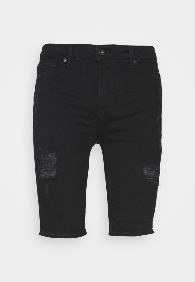 SOLID SPRAY ON - Farkkushortsit - black