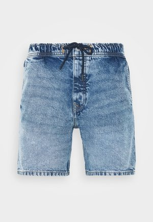 TIE WAIST - Shorts di jeans - light blue