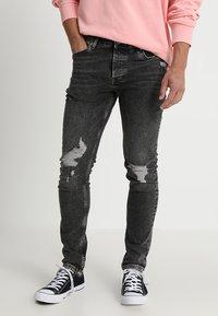 Topman - ARMANDO RIP - Jeans Skinny Fit - black - 0
