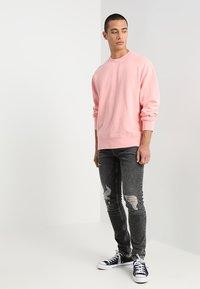Topman - ARMANDO RIP - Jeans Skinny Fit - black - 1
