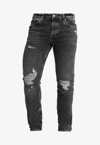 Topman - ARMANDO RIP - Jeans Skinny Fit - black - 4