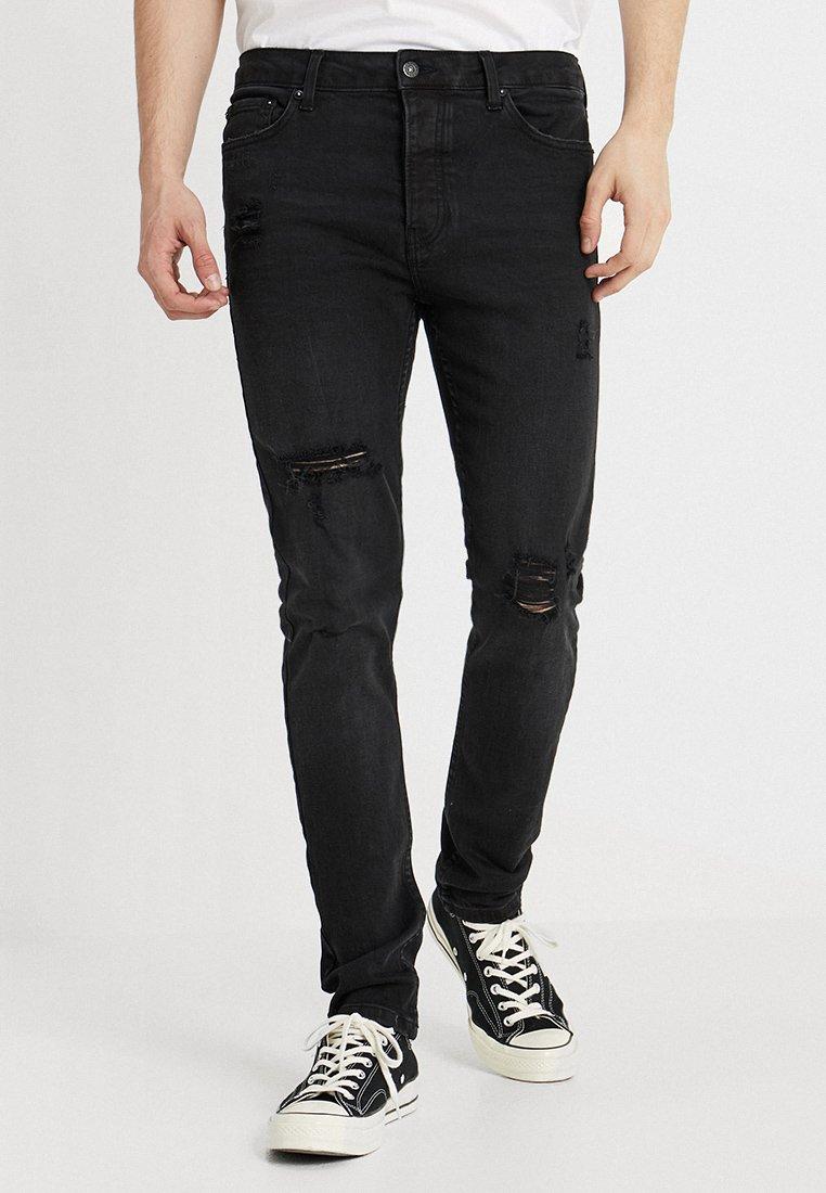 Topman - ARMANO UPDATE - Jeans Skinny Fit - black
