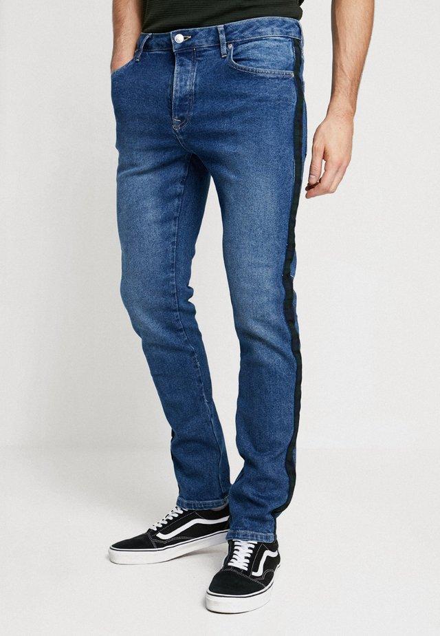 CHECK SIDE PANEL SLIM - Jeans slim fit - blue