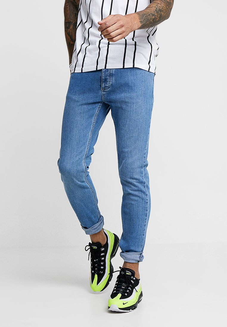 Topman BLUE JEANS SKINNY FIT - Jeansy Skinny Fit - blue