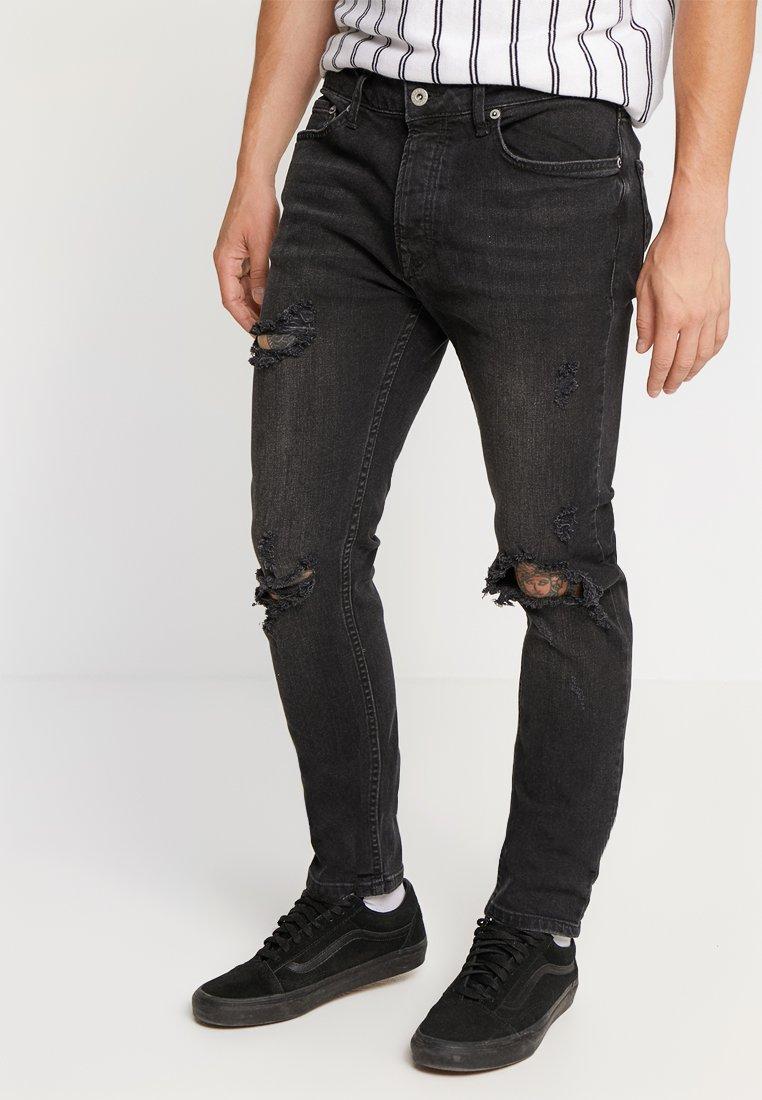 Topman - BLOWOUT  - Jeans Skinny Fit - black