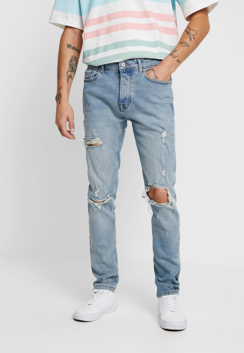 Topman - BLOWOUT - Jeans Skinny Fit - blue