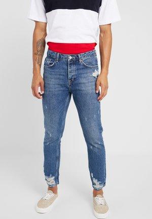 DAMAGE - Jeans Tapered Fit - blue denim