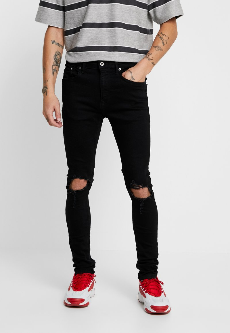 Topman - BLOWOUT SPRAY ON - Jeans Skinny - black
