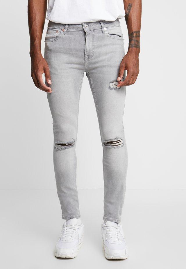 JONO RIPPED SPRAY - Jeans Skinny Fit - grey