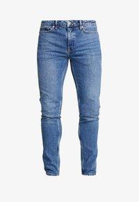 Topman - STRETCH SKINNY - Jeans Skinny Fit - blue denim - 4