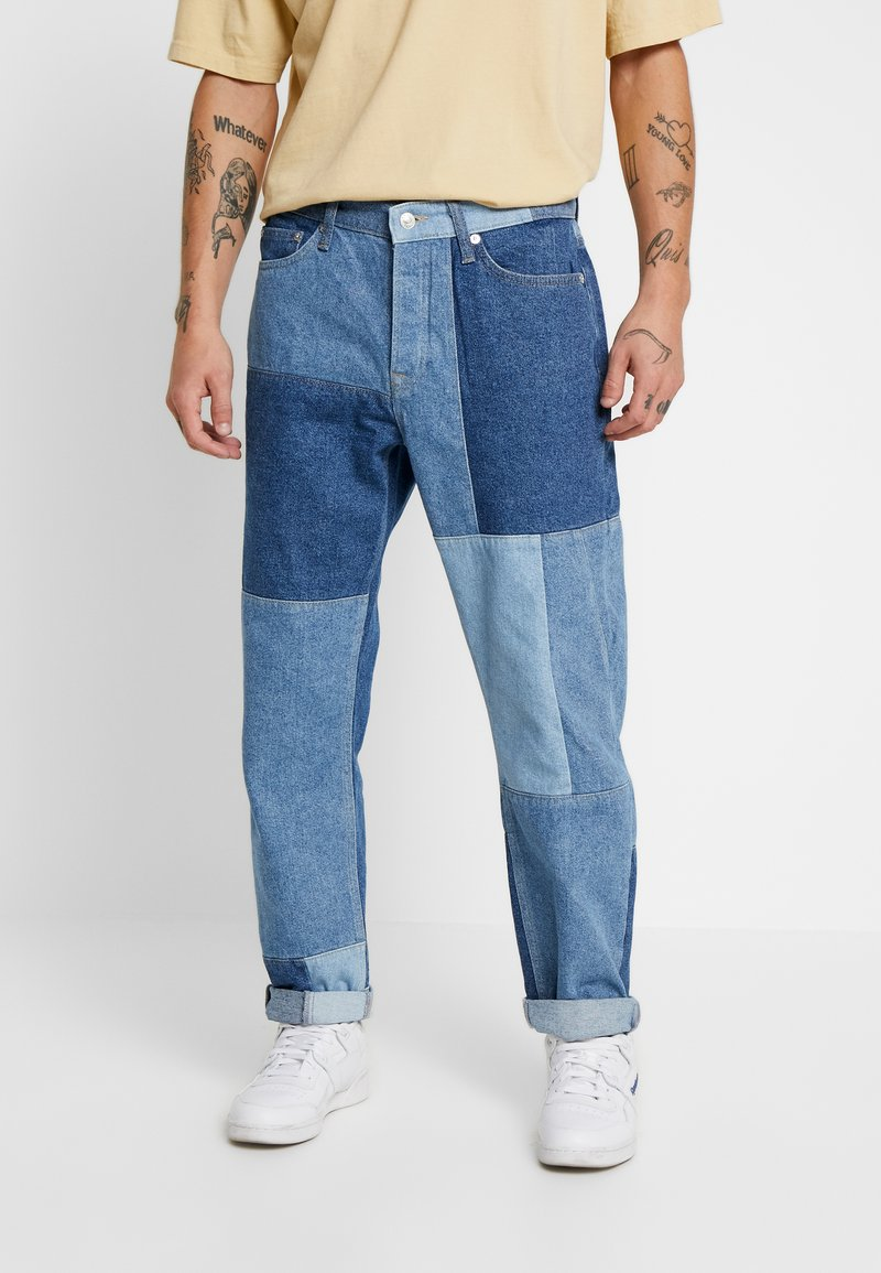 Topman - KOBE PATCH - Jeans baggy - blue