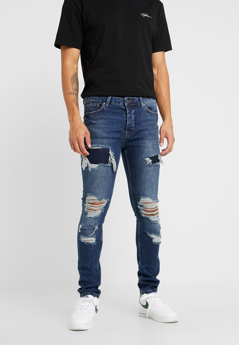 Topman - EXTREME BLOW - Jeans Skinny Fit - blue