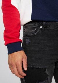 Topman - EXTREME BLOW - Jeans Skinny Fit - black - 4