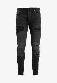 Topman - EXTREME BLOW - Jeans Skinny Fit - black - 3