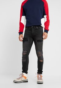 Topman - EXTREME BLOW - Jeans Skinny Fit - black - 0