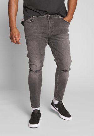 DIRTY RIP SPRAY ON - Relaxed fit jeans - grey