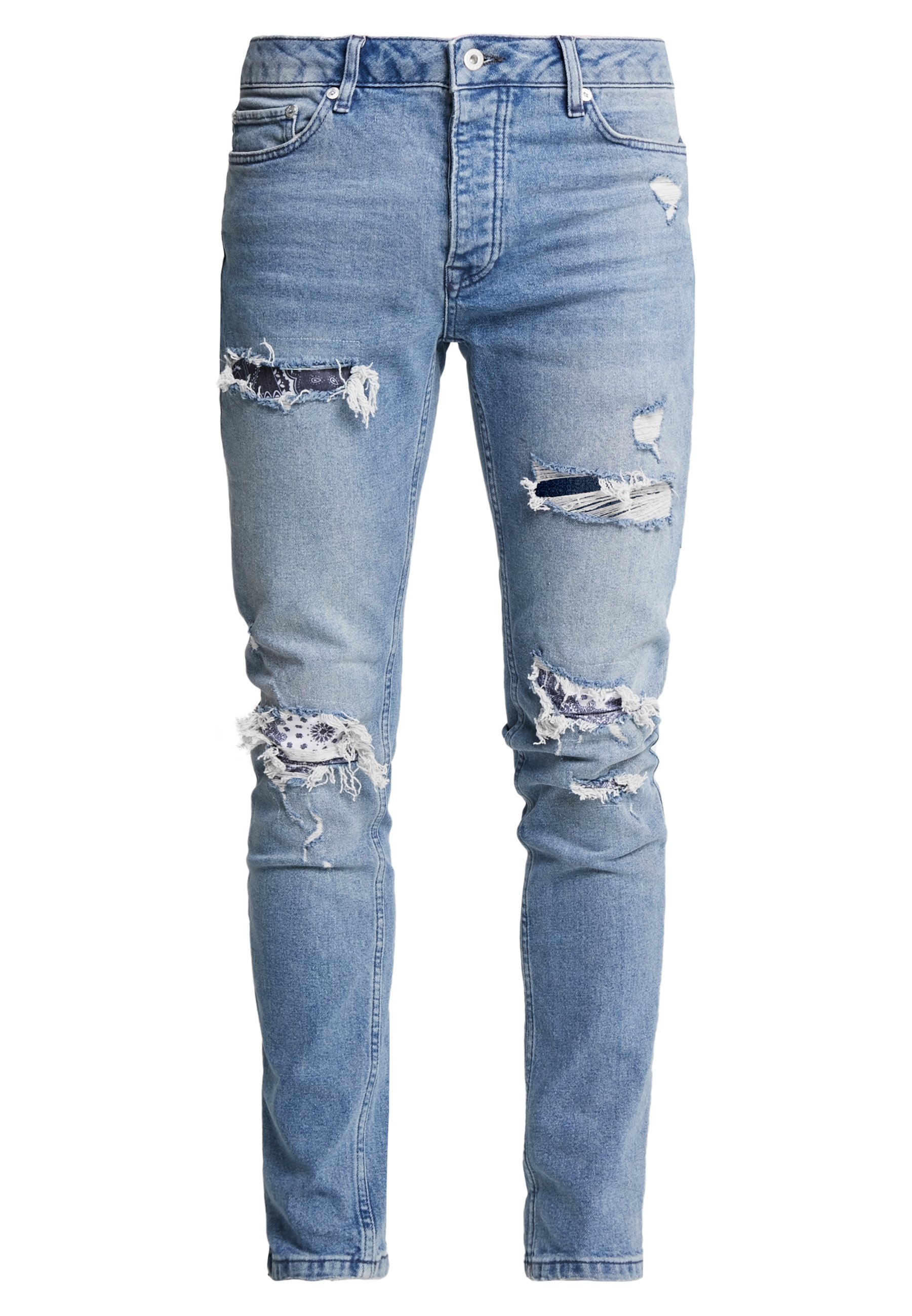 Topman Bandana Repair Update - Jeans Skinny Fit Blue Denim