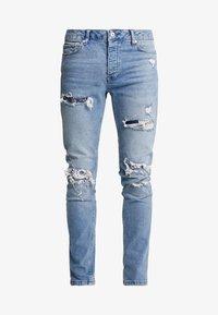 Topman - BANDANA REPAIR UPDATE  - Skinny džíny - blue denim - 4