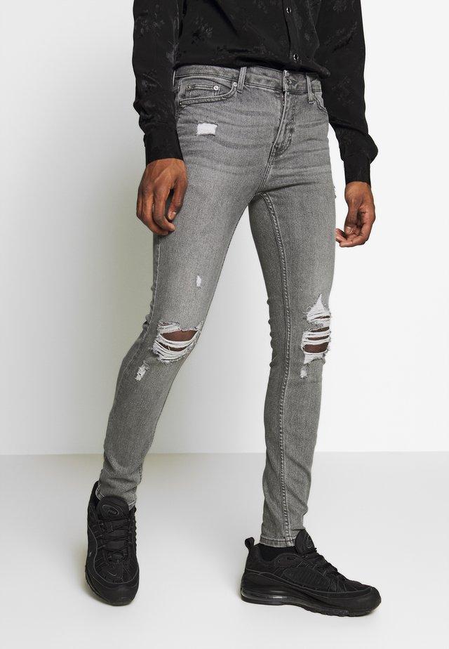 MULTI RIP SPRAY - Jeans Skinny Fit - grey