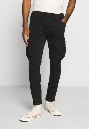 CARGO JOGGER - Cargo trousers - black
