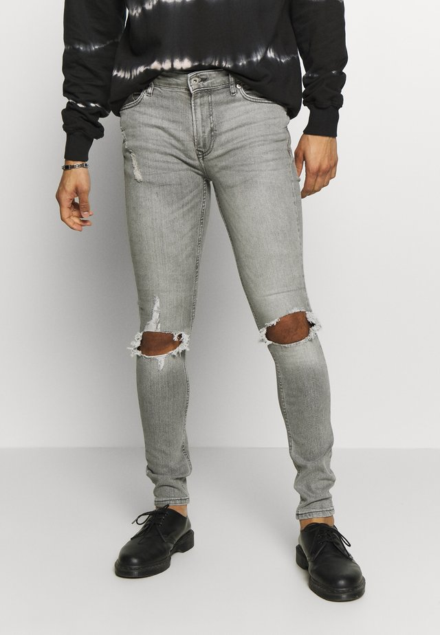 BLOWOUT SPRAY - Slim fit -farkut - grey