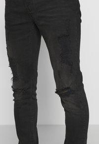 Topman - Skinny džíny - washed black - 3