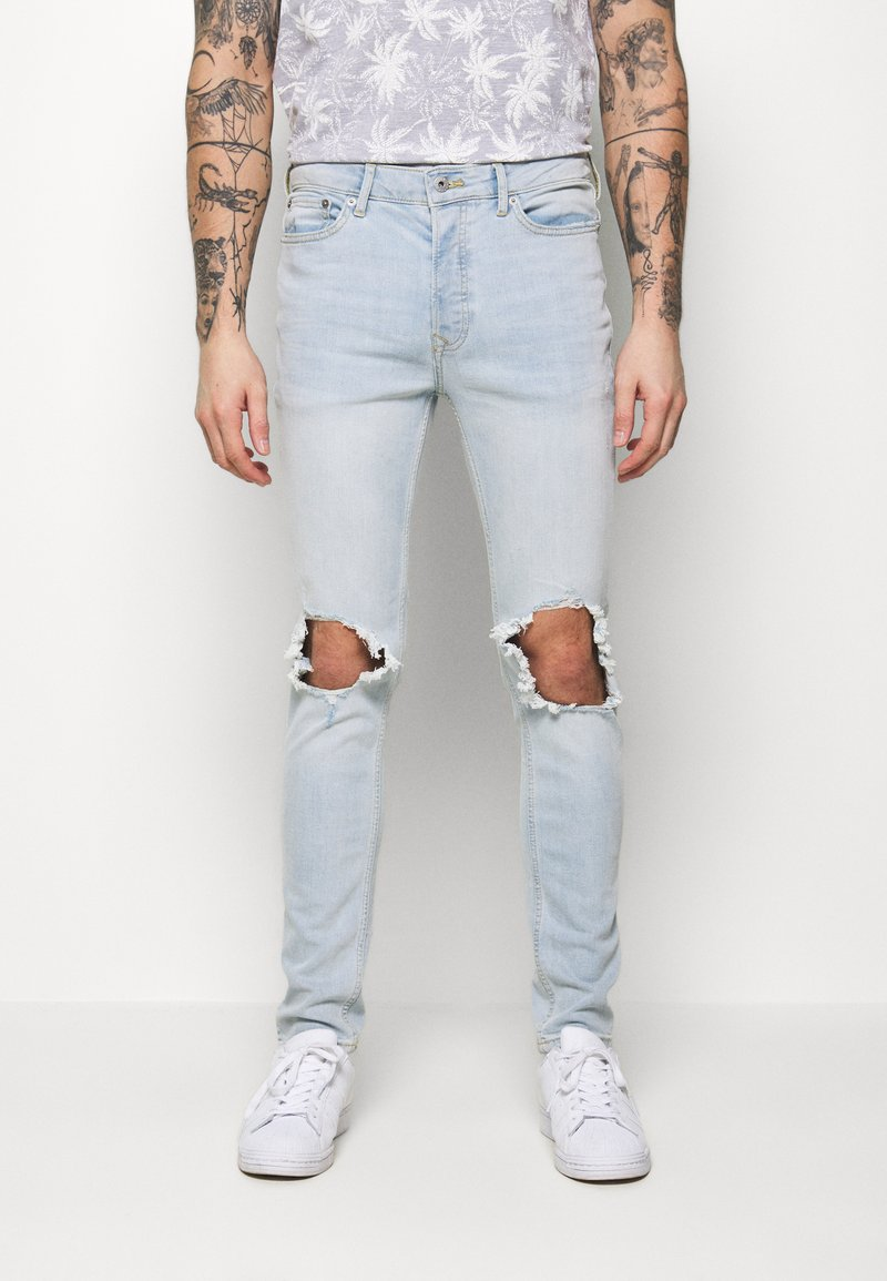 Topman - WASH EXTREME - Jeans Skinny Fit - light wash