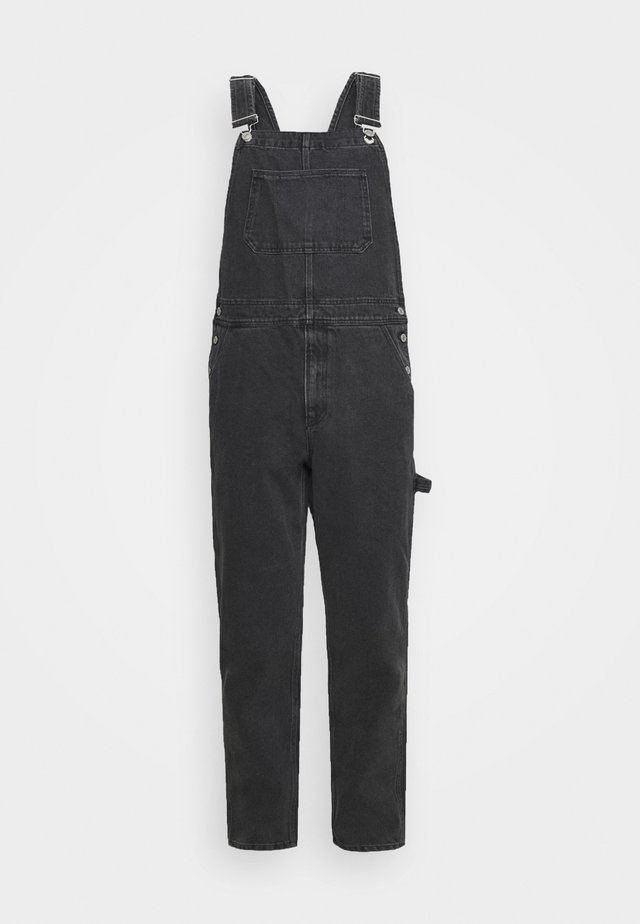 DUNGAREE - Lacláče - black denim