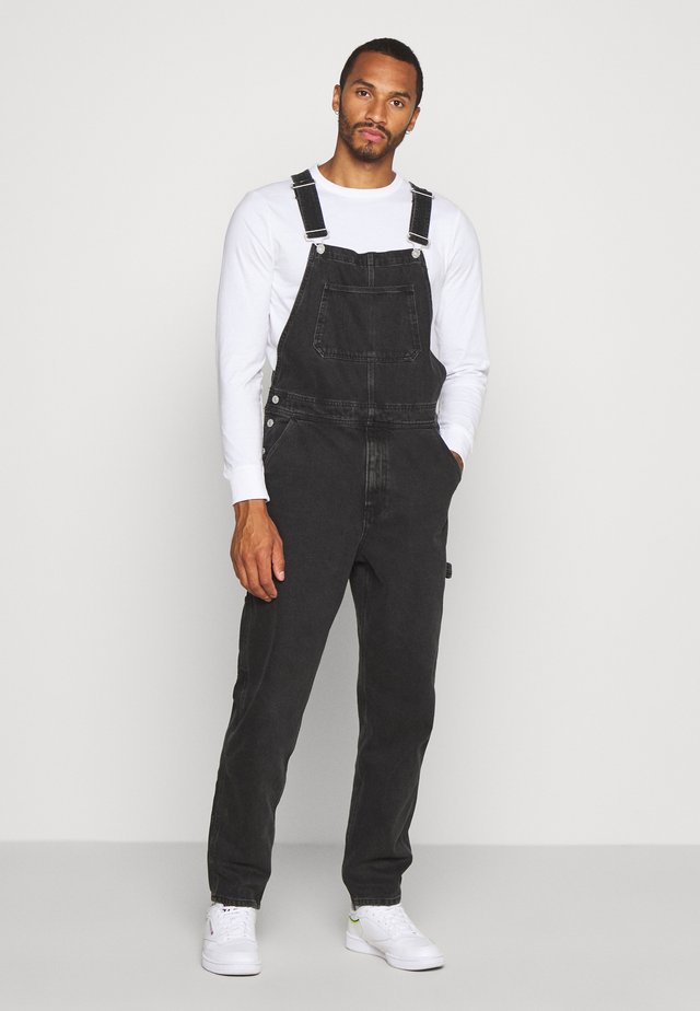 DUNGAREE - Dungarees - black denim