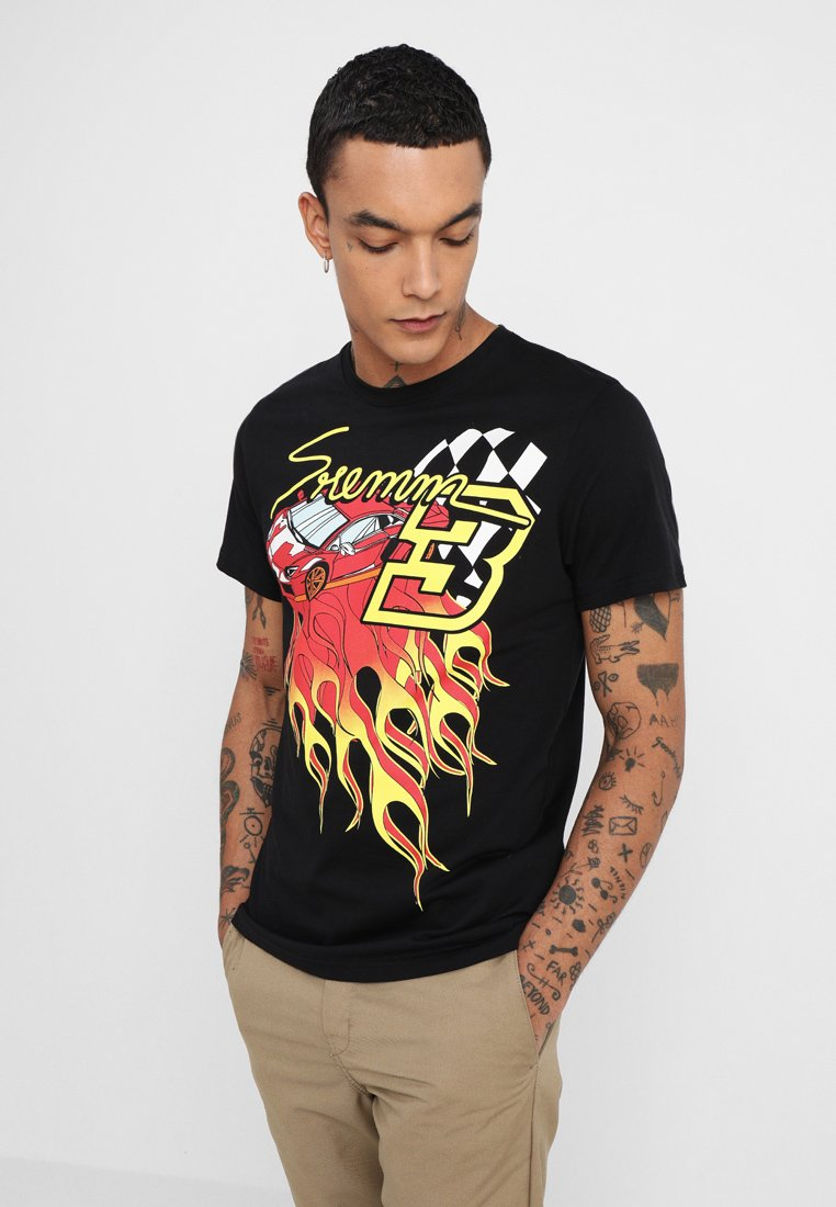 Topman - CAR - T-Shirt print - black