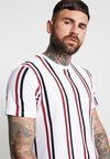 Topman - STRIPE - T-Shirt print - white