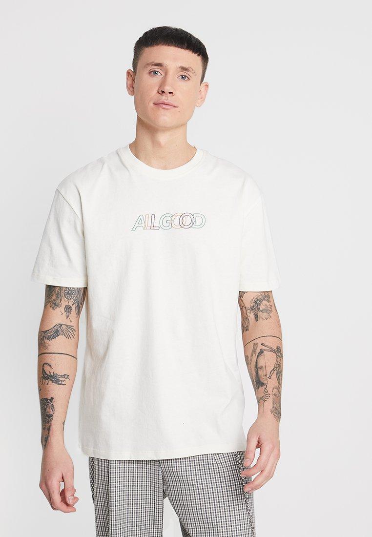 Topman - ALL GOOD  - T-Shirt print - off-white
